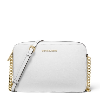 Picture of Michael Kors Large E/W Crossbody - Optic White