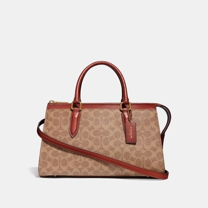 Picture of Coach Signature Bond Bag - Tan/Rust