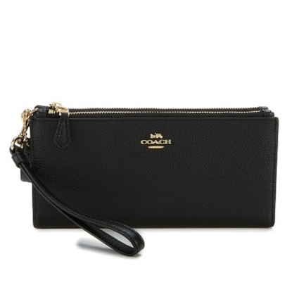 Picture of Coach Double Zip Wallet - Black