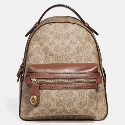 Picture of Coach Signature Campus Backpack 23 - Tan Rust