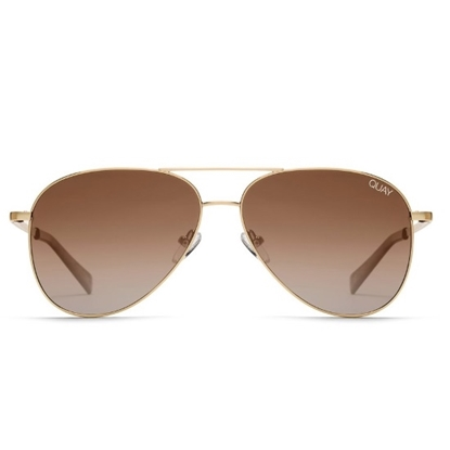 Picture of QUAY Men's Still Standing Sunglasses - Gold/Smoke Taupe
