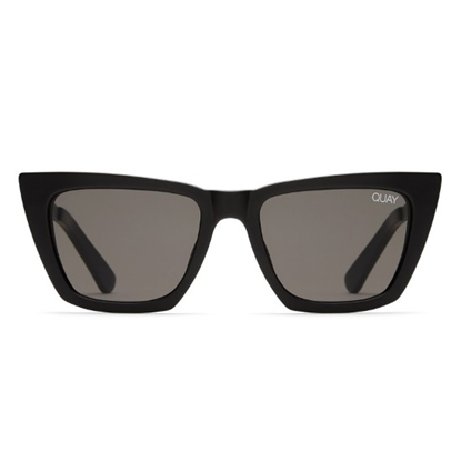 Picture of QUAY Don't @ Me Sunglasses - Black/Smoke