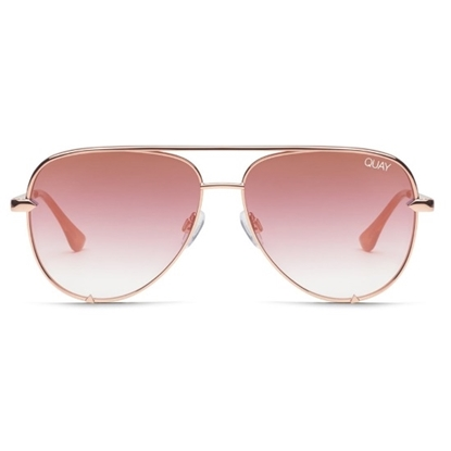 Picture of QUAY High Key Sunglasses - Rose/Copper Fade