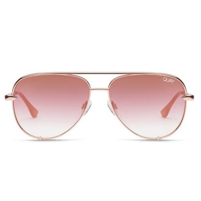 Picture of QUAY High Key Mini Sunglasses - Rose/Copper Fade