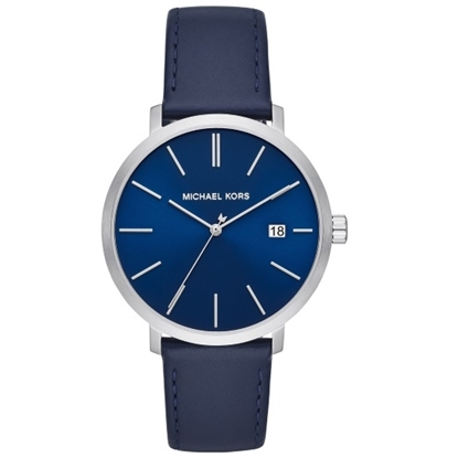 Picture of Michael Kors Men's Blake Blue Leather Strap Watch
