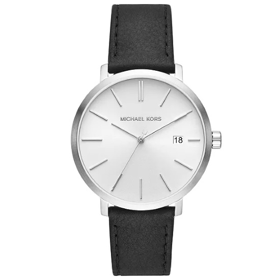 Picture of Michael Kors Men's Blake Black Leather Strap Watch