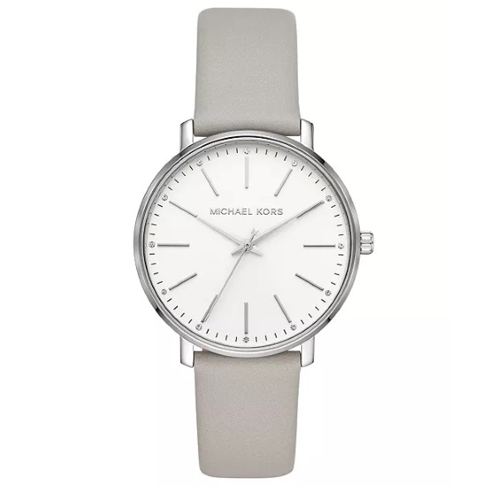 Picture of Michael Kors Ladies' Pyper Watch - White Dial/Grey Leather