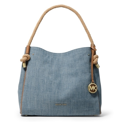 Picture of Michael Kors Isla Large Grab Bag - Washed Denim