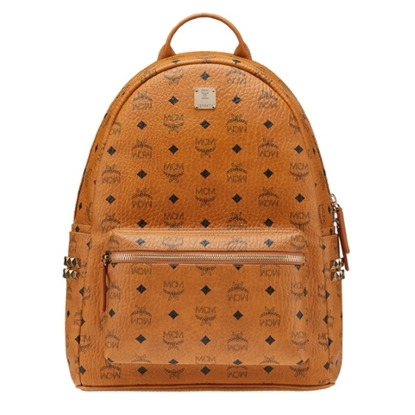 Picture of MCM Medium Side Stud Stark Backpack - Cognac