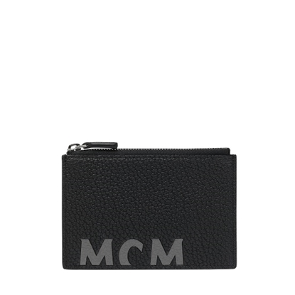 Picture of MCM New Big Logo Zipped Card Mini Wallet - Black
