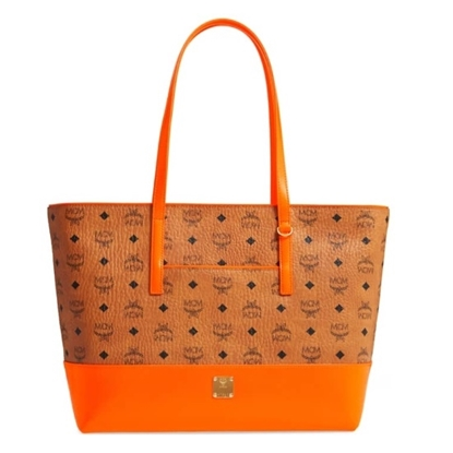 Picture of MCM Geonautic Visetos Medium Shopper - Cognac