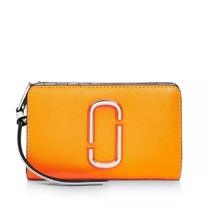 Picture of Marc Jacobs Snapshot Compact Wallet - Bright Orange Multi