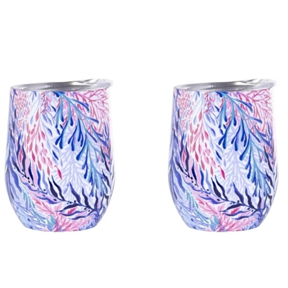 Picture of Lilly Pulitzer Insulated Stemless Tumblers- Kaleidoscope Coral