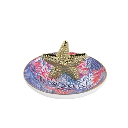 Picture of Lilly Pulitzer Ring Holder - Kaleidoscope Coral