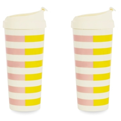 Picture of Kate Spade Thermal Mugs - Two-Tone Stripes