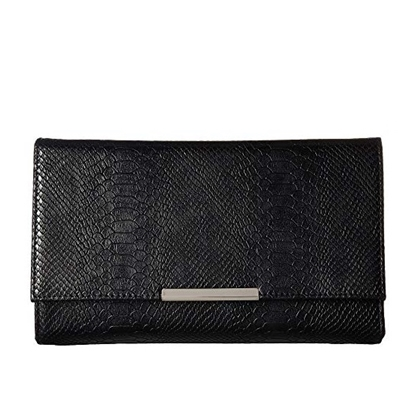 Picture of Jessica McClintock Nora Snakeskin Clutch - Black