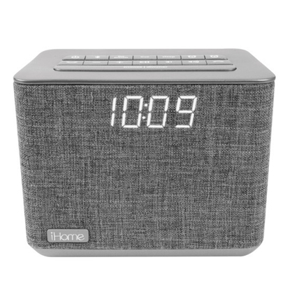 Picture of iHome Bluetooth Bedside Alarm Clock with FM Radio - Gray
