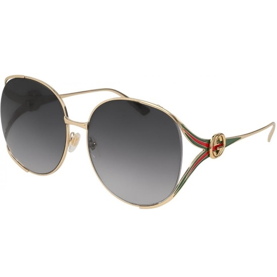 35f823db7a Picture of Gucci Red Green Gold Metal Sunglasses with Grey Lens