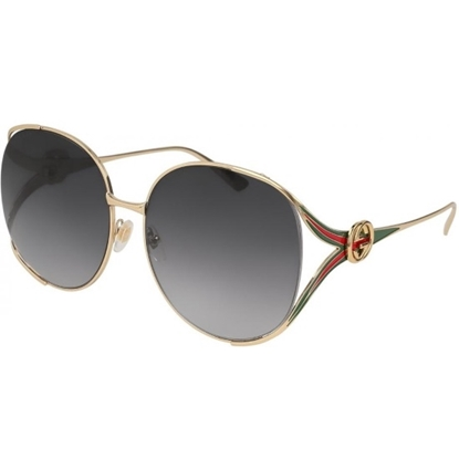 Picture of Gucci Red/Green/Gold Metal Sunglasses with Grey Lens