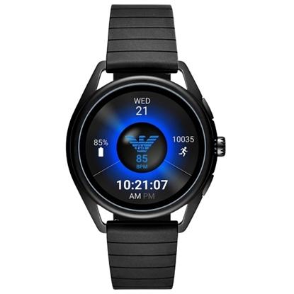 Picture of Emporio Armani Matteo Black Rubber Touchscreen Smartwatch