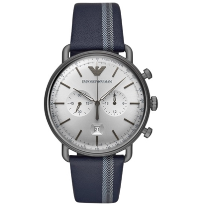 Picture of Emporio Armani Aviator Blue Leather Strap Watch
