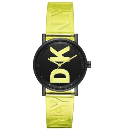 Picture of DKNY Soho Alloy/PU Black Dial Logo Watch