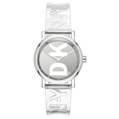 Picture of DKNY Soho Alloy/PU Logo Watch
