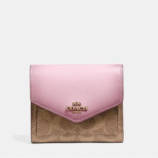 fb718978731b MileagePlus Merchandise Awards. Coach Signature Small Wallet - Tan ...