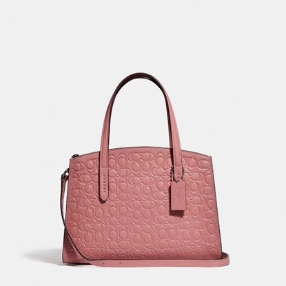 Picture of Coach Signature Charlie 28 Carryall - Blush/Silver