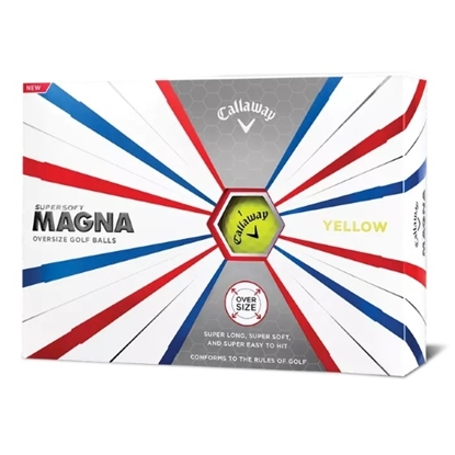 Picture of Callaway Supersoft Magna Yellow Golf Balls - 2 Dozen
