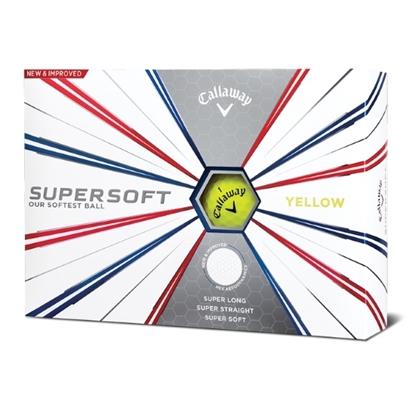 Picture of Callaway Supersoft Yellow Golf Balls - 2 Dozen