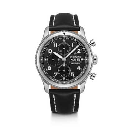 Picture of Breitling Navitimer 8 Chrono 43 - Leather Strap/Black Dial