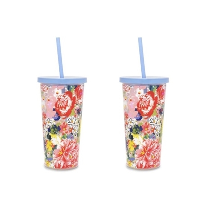Picture of Ban.do Sip Sip Tumblers - Flower Shop