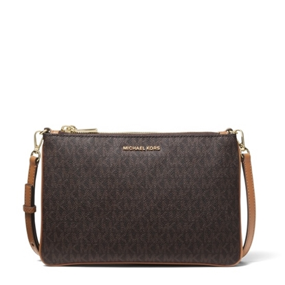 Picture of Michael Kors Signature Large Double Pouch Crossbody