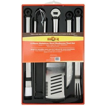 Picture of Mr. Bar-B-Q 5-Piece Stainless Steel Barbecue Tool Set