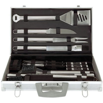 Picture of Mr. Bar-B-Q 30-Piece Barbecue Tool Set with Aluminum Case