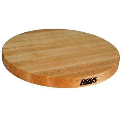 "Picture of John Boos R Collection 1-1/2"" Round Maple Board"