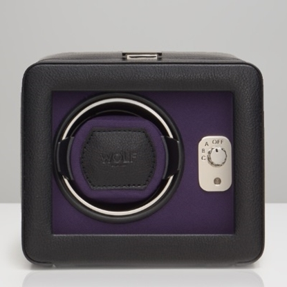 Picture of Wolf Windsor Single Winder with Cover - Black/Purple