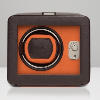 Picture of Wolf Windsor Single Winder with Cover - Brown/Orange