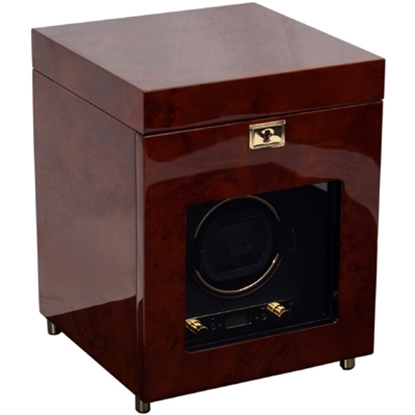 Picture of Wolf Designs Savoy Burlwood Watch Winder with Storage