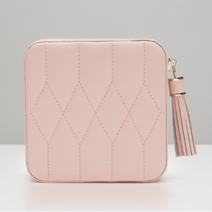 Picture of Wolf Caroline Zip Travel Case - Rose Quartz
