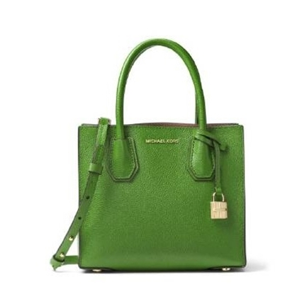 Picture of Michael Kors Mercer Leather Crossbody - True Green