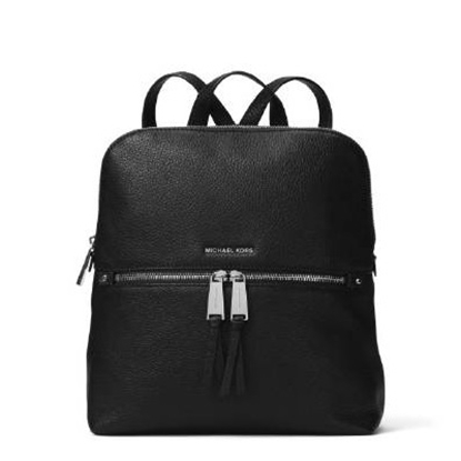 Picture of Michael Kors Rhea Zip Medium Slim Backpack - Black