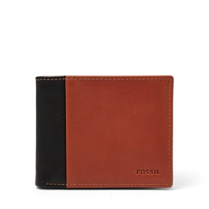 Picture of Fossil Ward Bifold Leather Wallet - Black/Brown