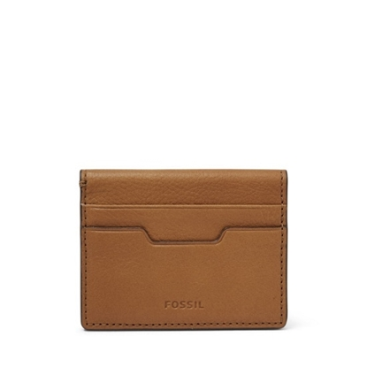 Picture of Fossil Ellis Magnetic Leather Card Case - Tan