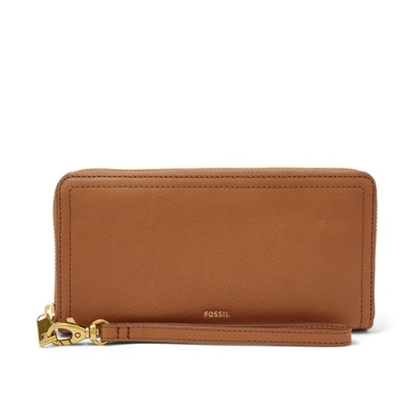 Picture of Fossil Ladies' Logan Zip Clutch - Tan