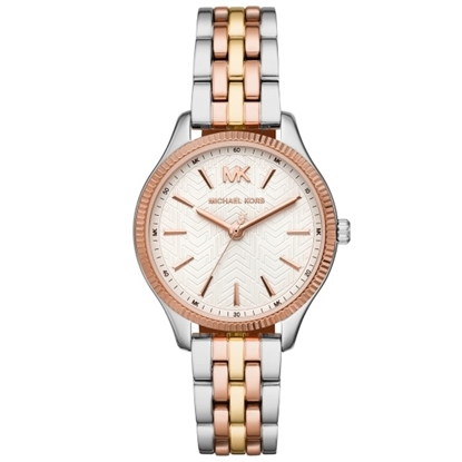 Picture of Michael Kors Ladies' Lexington Tri-Tone Stainless Steel Watch