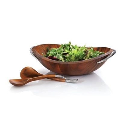 Picture of Nambe Braid Salad Bowl with Servers