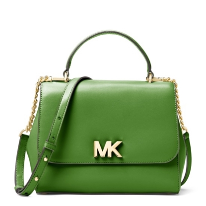 Picture of Michael Kors Mott Medium Top Handle Satchel - True Green