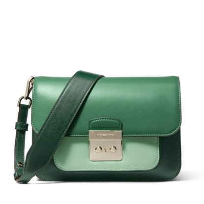 Picture of Michael Kors Sloan Editor Large Shoulder - Racing Green Multi